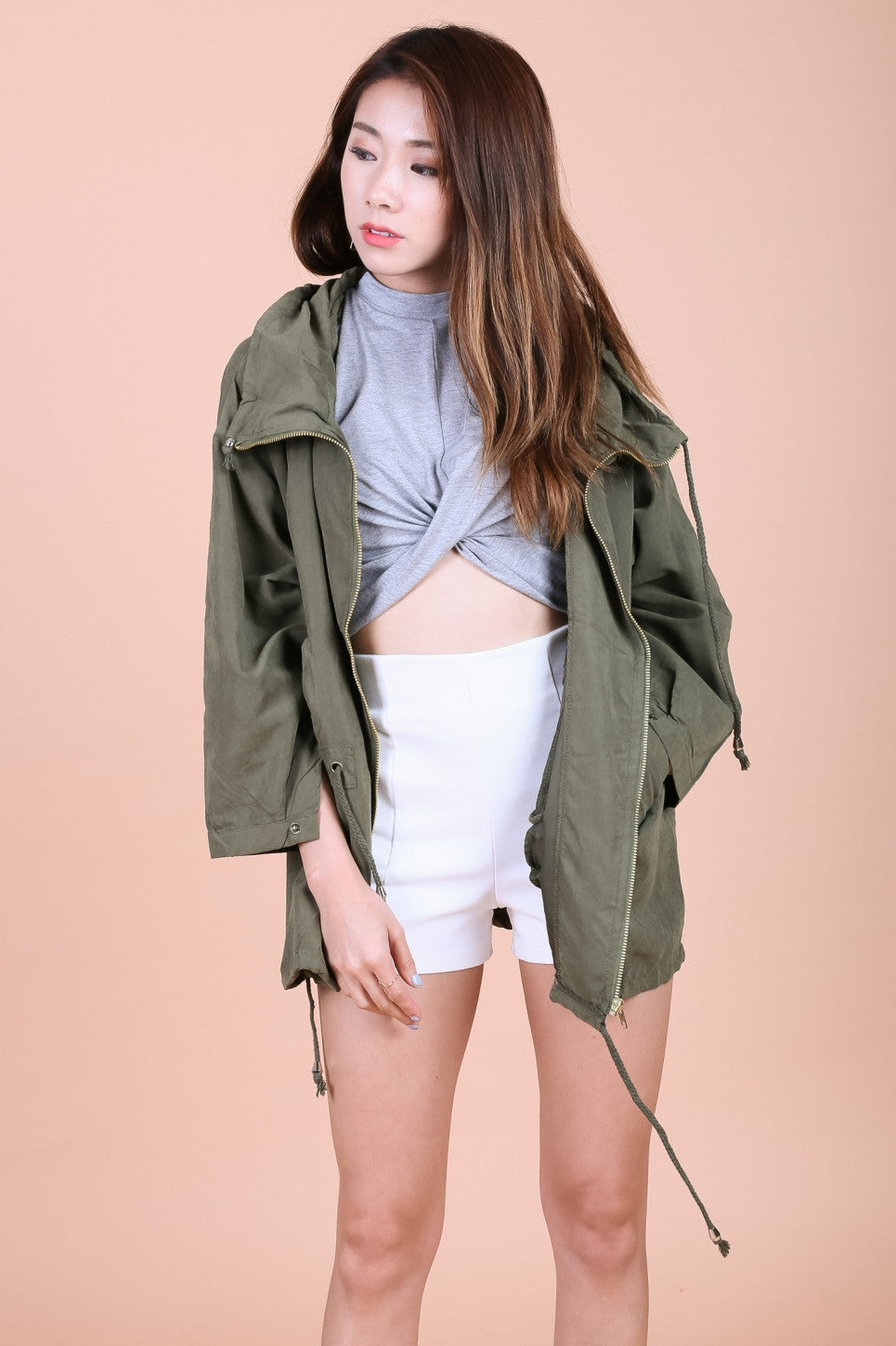 OVERSIZED EVERYDAY PARKA IN OLIVE - TOPAZETTE