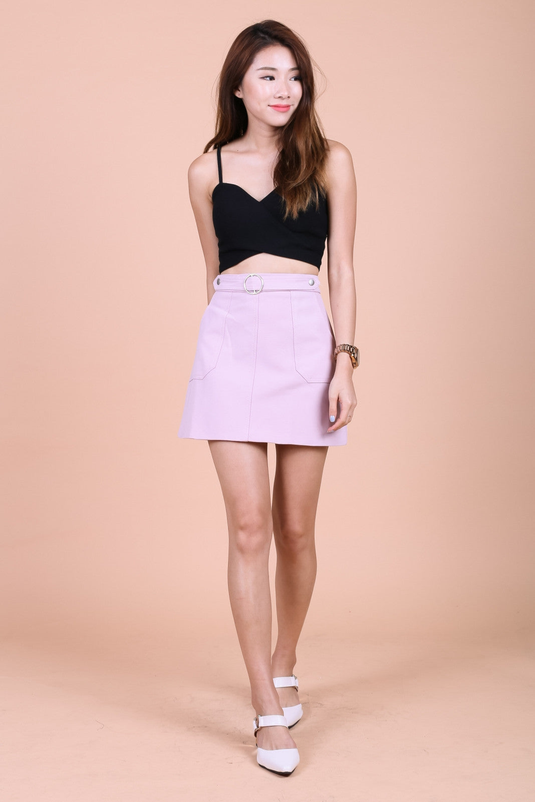 MILA RING SKIRT IN BLUSH - TOPAZETTE