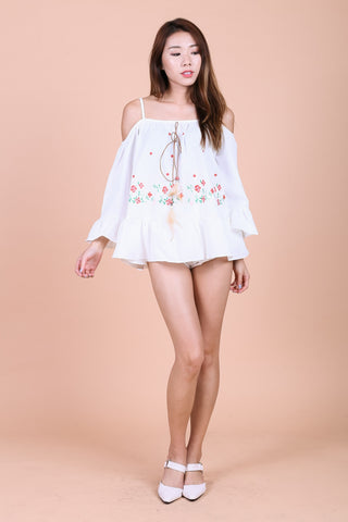 537f2b63e0603 FLORAL EMBROIDERY BABYDOLL TOP IN WHITE - TOPAZETTE