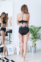 BABY GOT BACK BRA SET IN BLACK - TOPAZETTE