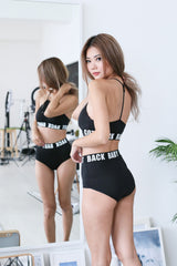 BABY GOT BACK BRA SET IN BLACK