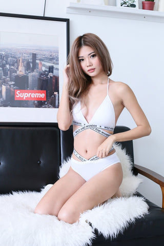 WILD X WANDER BRA SET IN WHITE