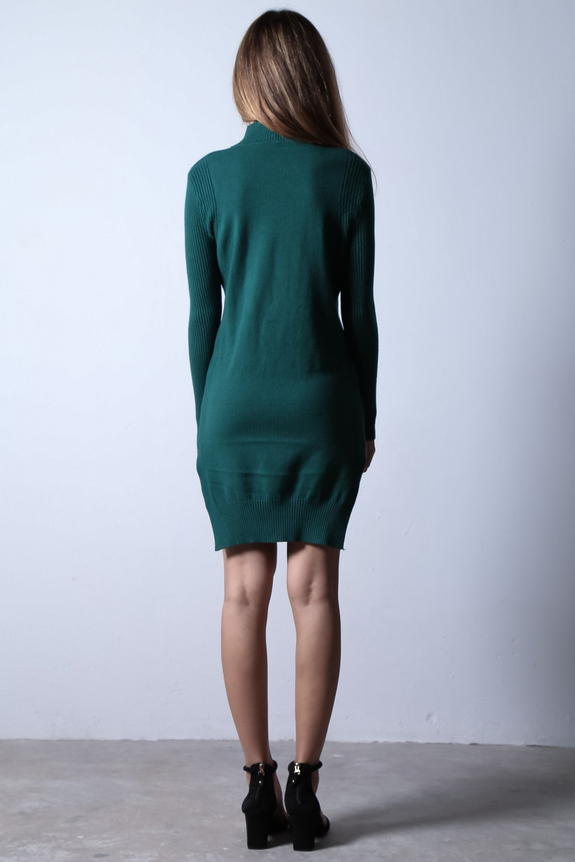 LOUNGE KNIT DRESS IN FOREST - TOPAZETTE