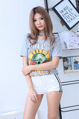 G&R CHOKER TEE IN GREY