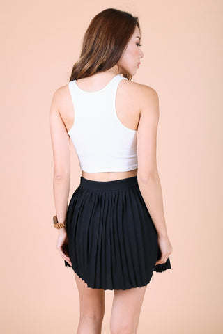 *BACKORDER* SUPER CROP BASIC TOP IN WHITE