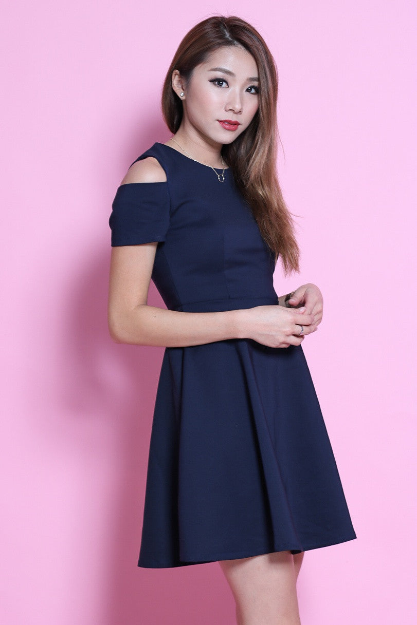 RESTOCKED 3 - (PREMIUM) DAY TO NIGHT SKATER DRESS IN NAVY