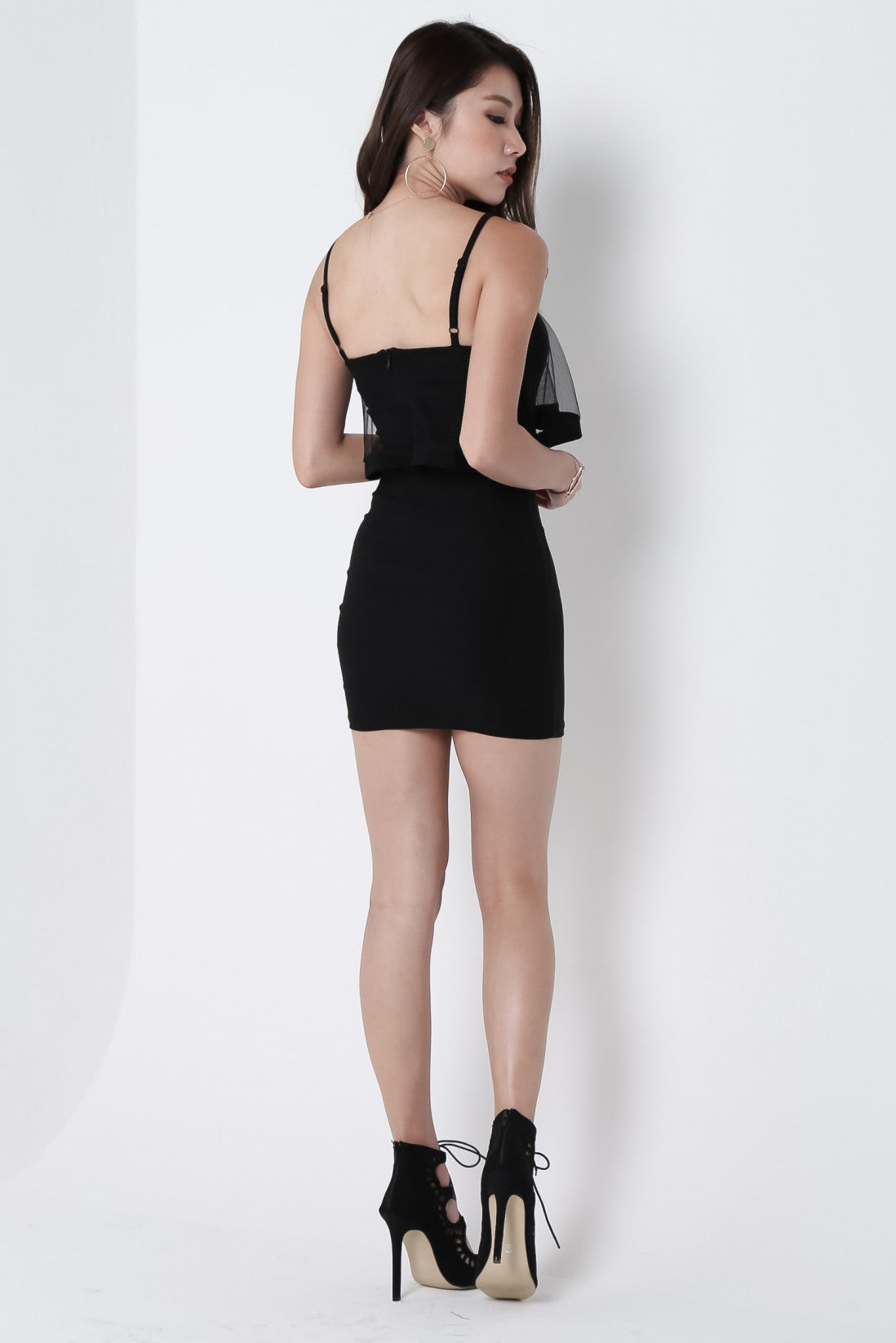 *RESTOCKED* ALTAS MESH BODYCON DRESS IN BLACK - TOPAZETTE