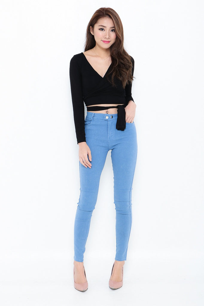(RESTOCKED 6) PERFECTLY YOURS DENIM JEGGINGS IN LIGHT BLUE - TOPAZETTE