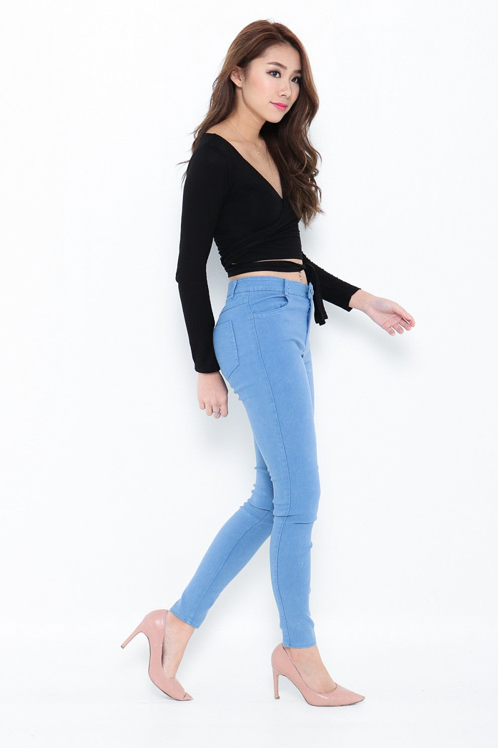(RESTOCKED) WRAP AROUND TOP IN BLACK - TOPAZETTE