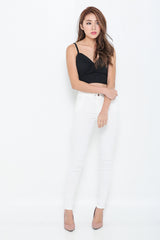 (RESTOCKED 6) PERFECTLY YOURS DENIM JEGGINGS IN WHITE - TOPAZETTE