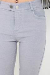(RESTOCKED 6) PERFECTLY YOURS DENIM JEGGINGS IN GREY - TOPAZETTE
