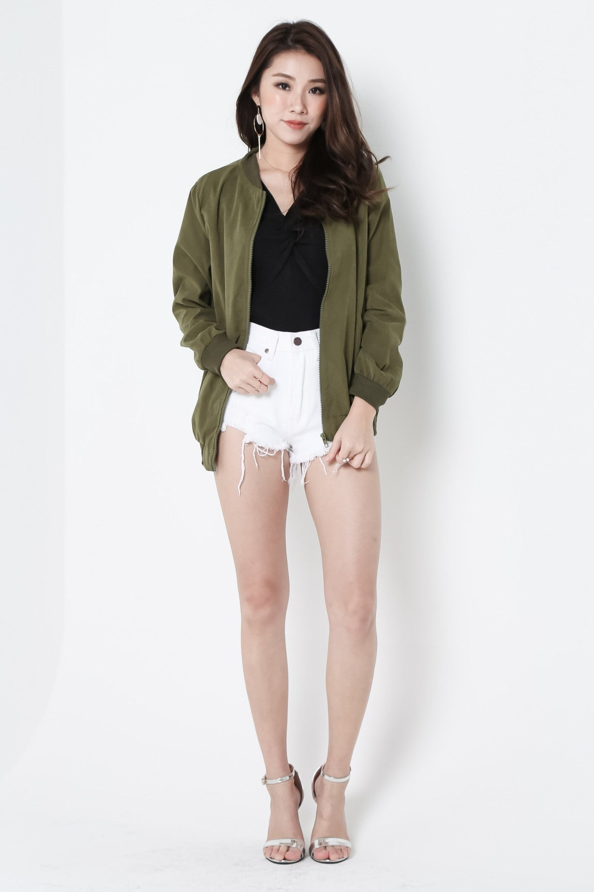 *RESTOCKED* HELLO EVERYDAY PARKA IN ARMY GREEN - TOPAZETTE