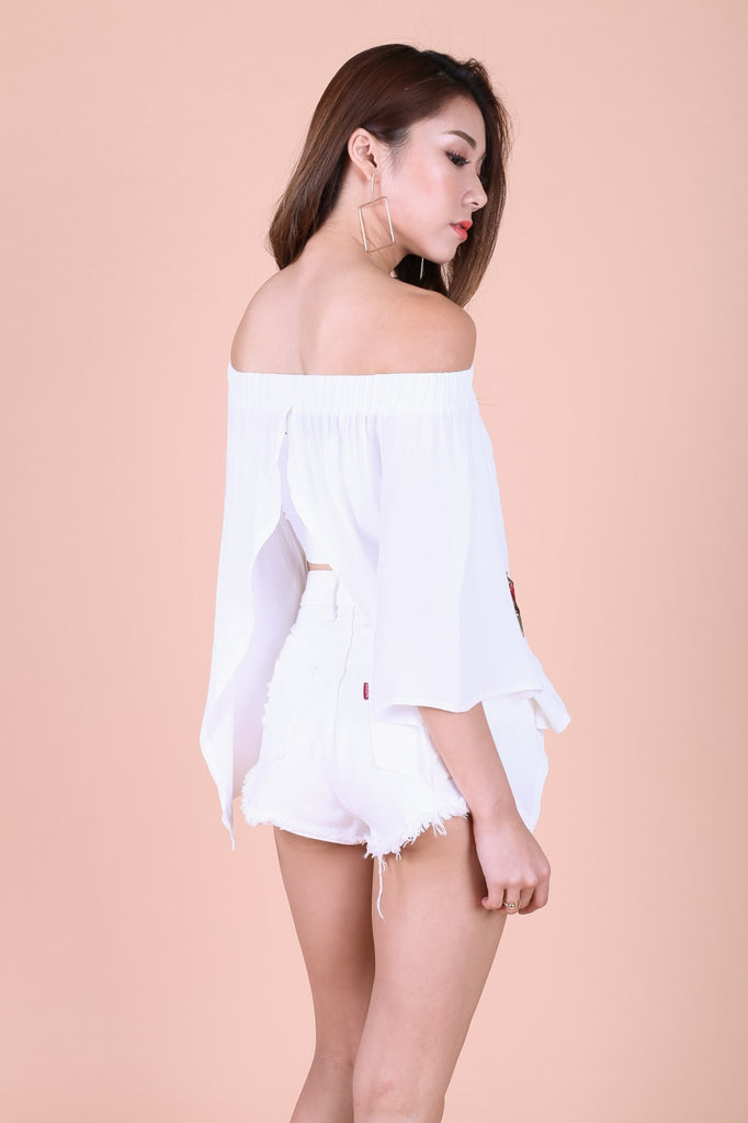 (RESTOCKED) *TOPAZ* KYRA ROSE EMBROIDERY TOP IN WHITE - TOPAZETTE