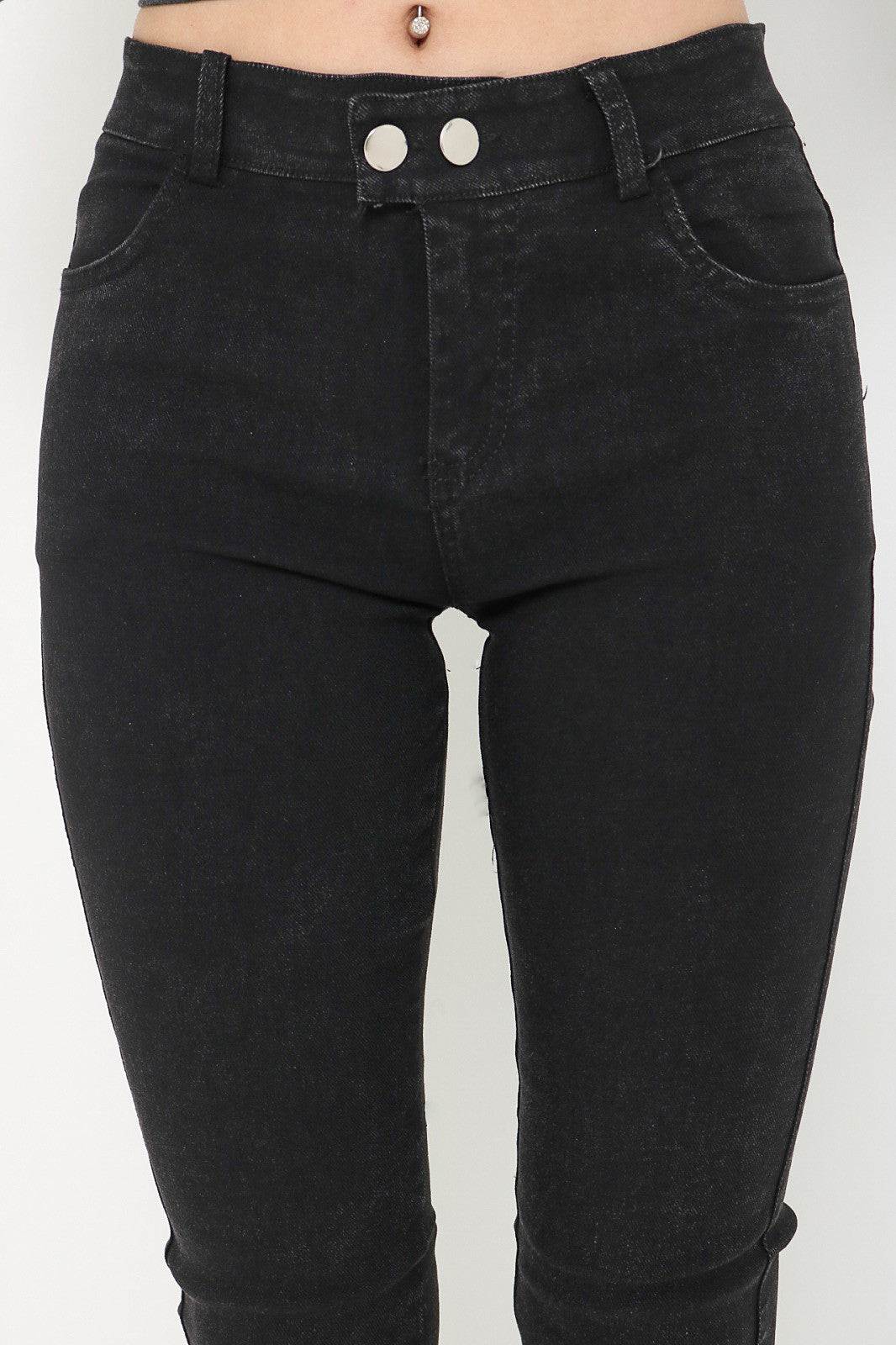 (RESTOCKED 6) PERFECTLY YOURS DENIM JEGGINGS IN BLACK - TOPAZETTE