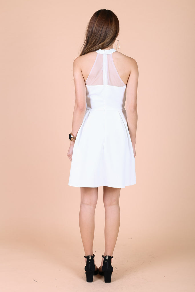 *TOPAZ* VERA SWEETHEART MESH DRESS IN WHITE - TOPAZETTE