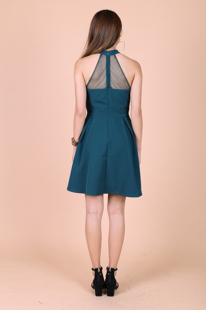 *TOPAZ* VERA SWEETHEART MESH DRESS IN TEAL - TOPAZETTE