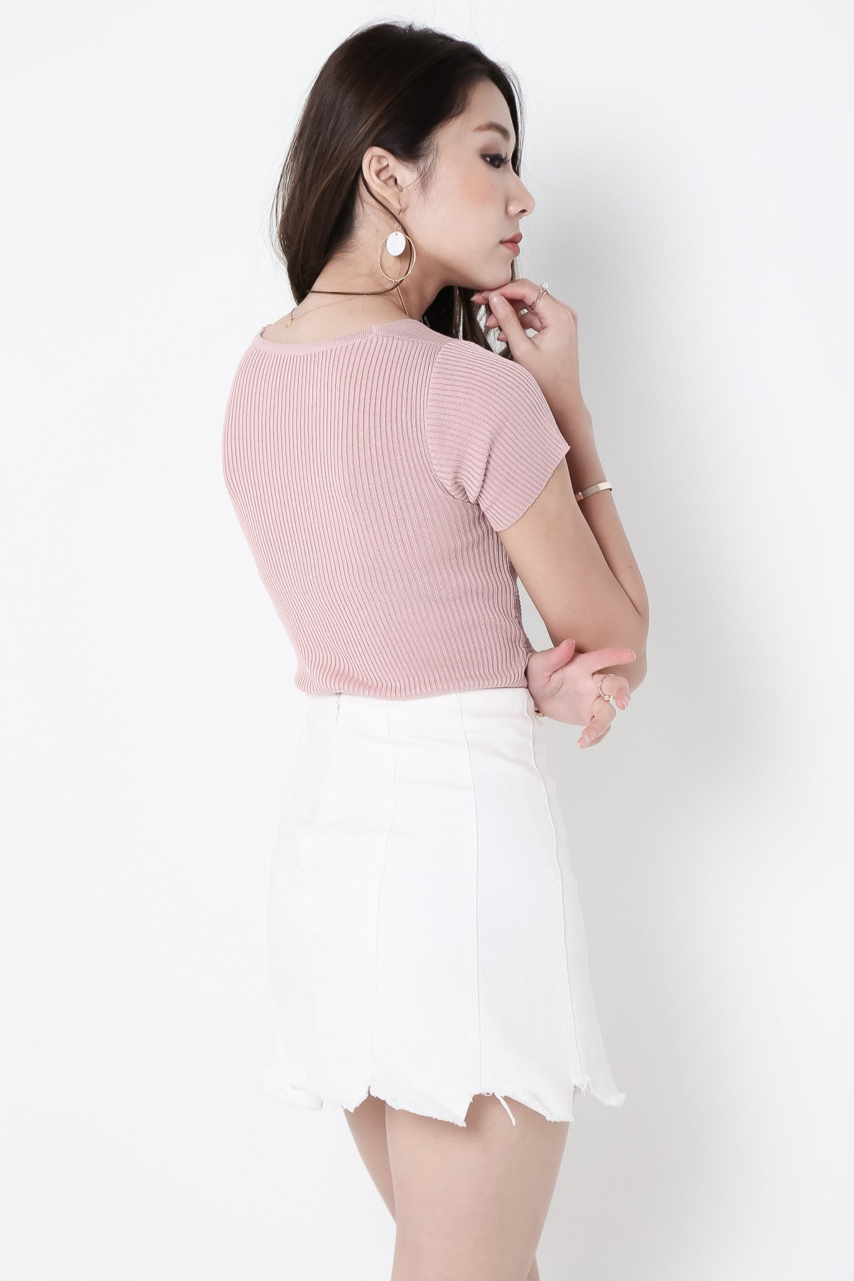 PRETTY IN KNOTS KNIT TOP IN PINK