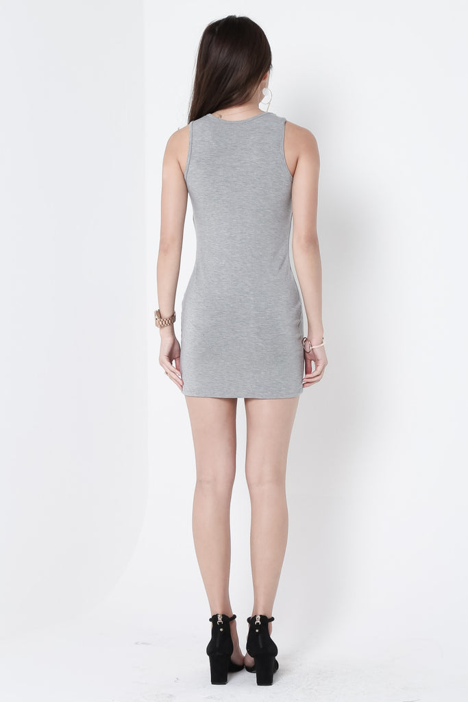 TANKFUL FOR YOU DRESS IN LIGHT GREY