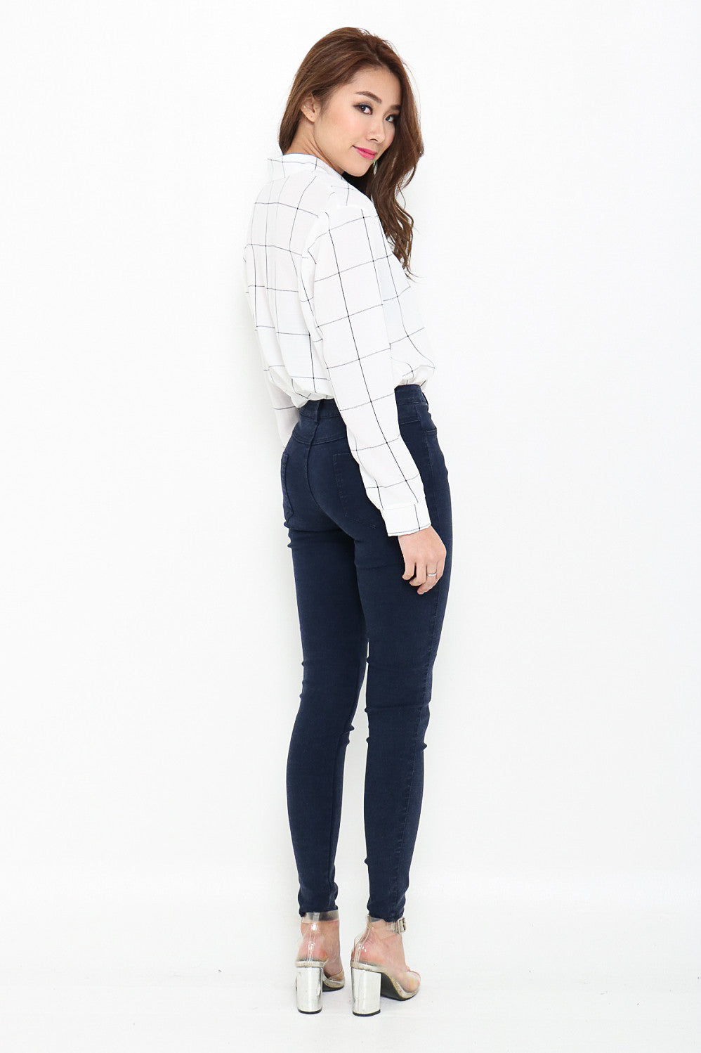 (RESTOCKED 6) PERFECTLY YOURS DENIM JEGGINGS IN DARK BLUE - TOPAZETTE