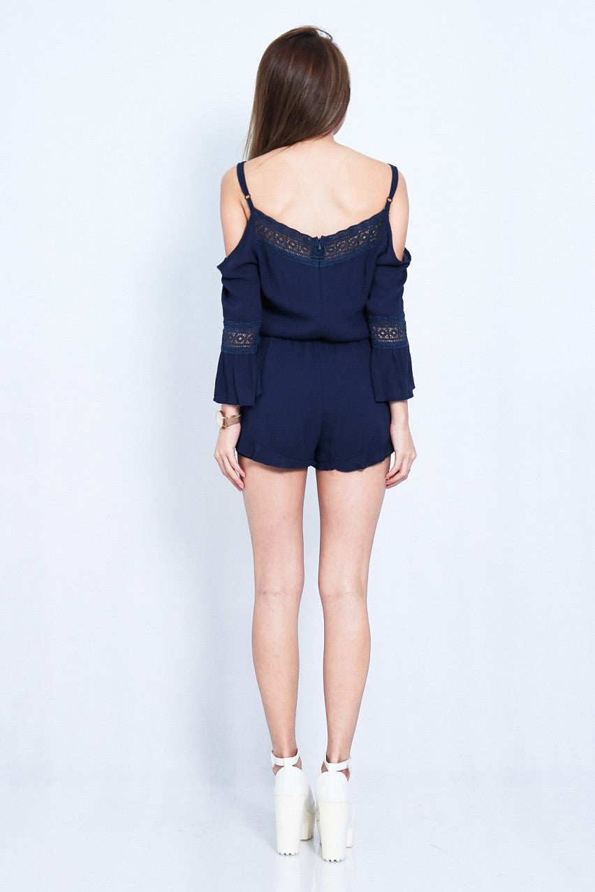 (RESTOCKED) DAY AT THE BEACH ROMPER IN NAVY - TOPAZETTE