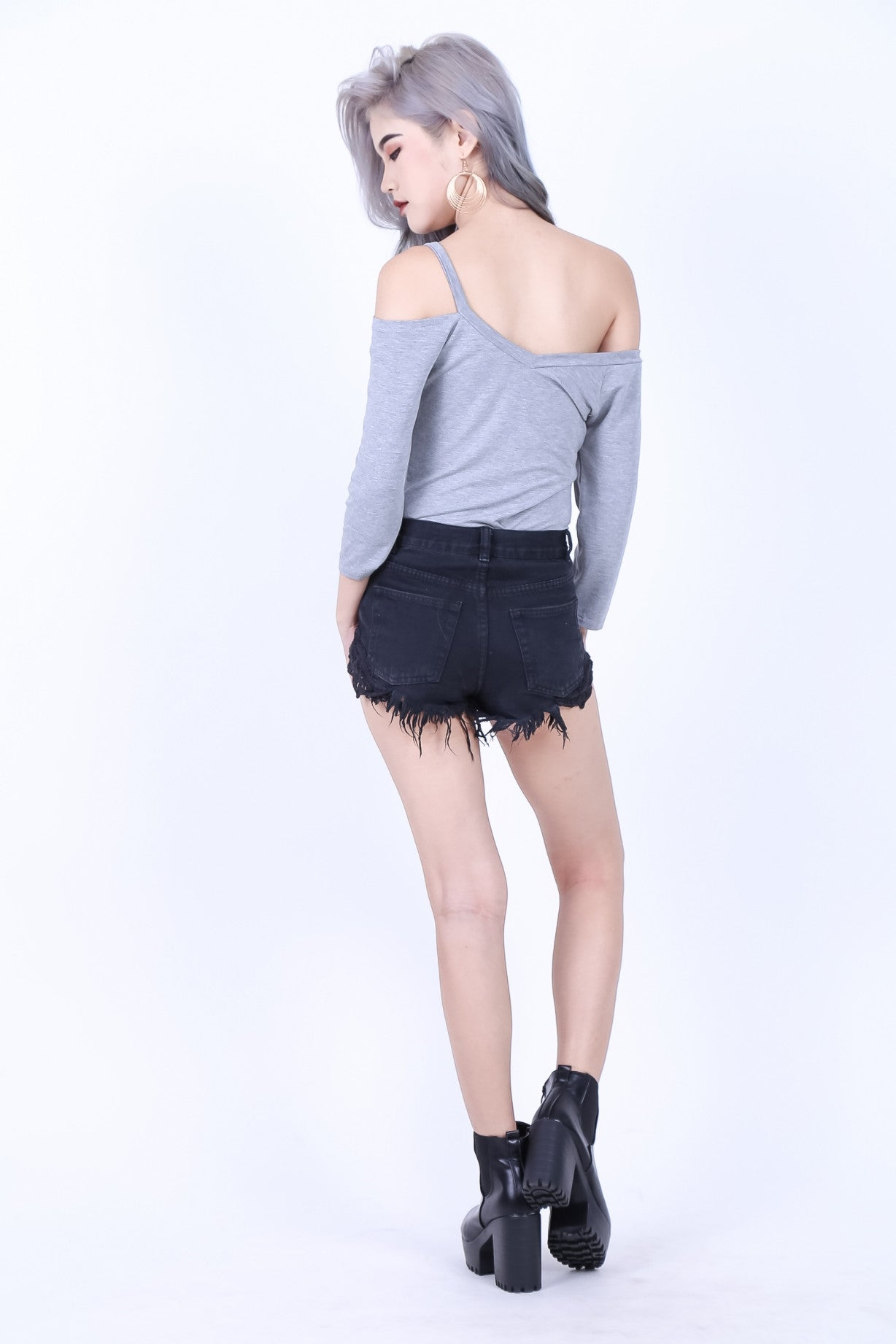 *RESTOCKED* COMFY DUAL STRAPS TOP IN LIGHT GREY - TOPAZETTE