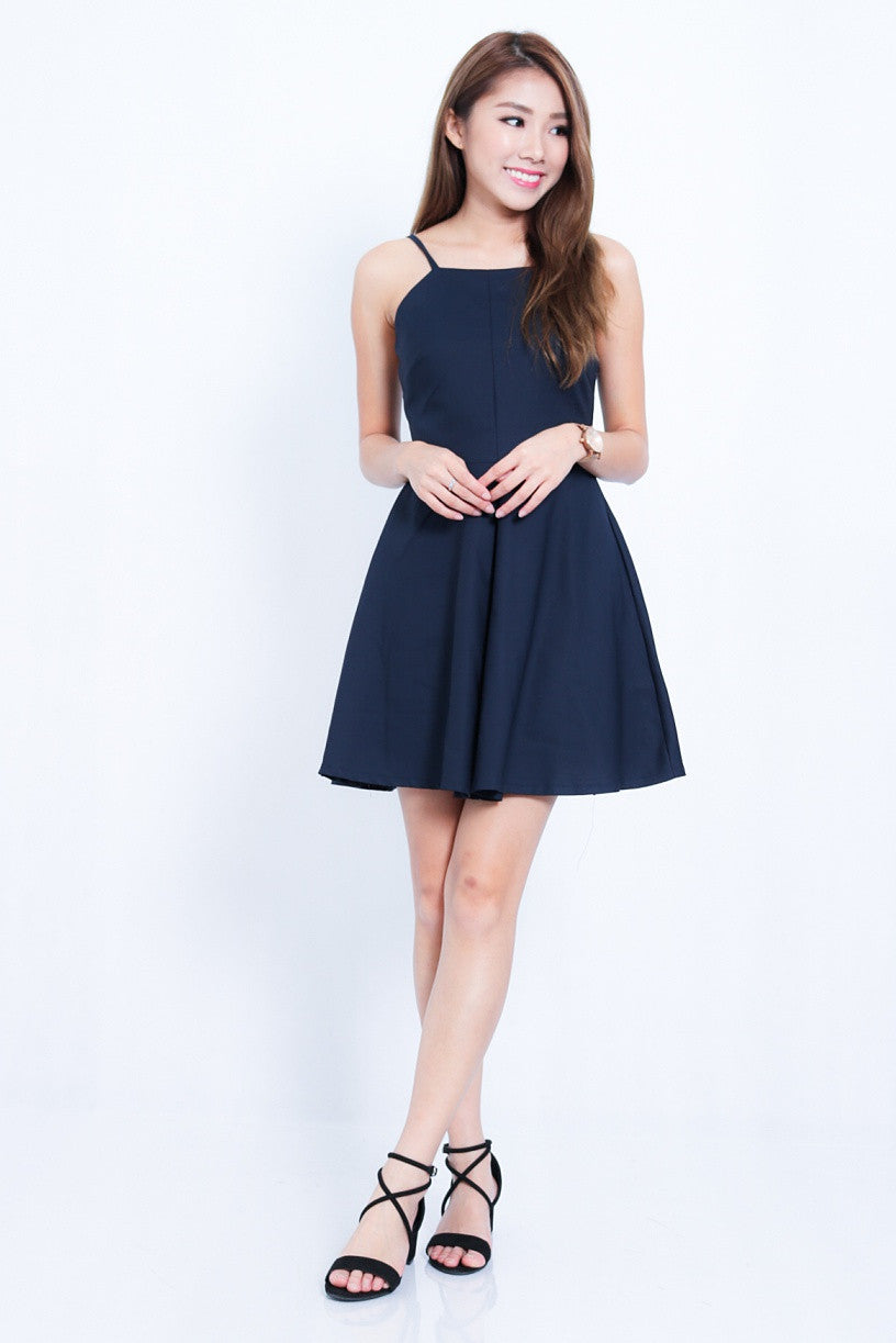 #MADEBYTPZ (PREMIUM) HARPER DRESS IN NAVY - TOPAZETTE