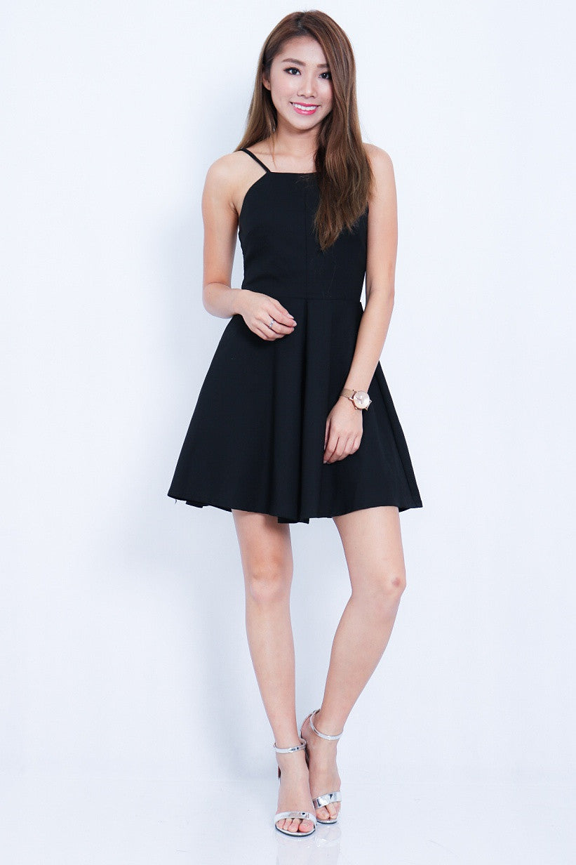 #MADEBYTPZ (PREMIUM) HARPER DRESS IN BLACK - TOPAZETTE