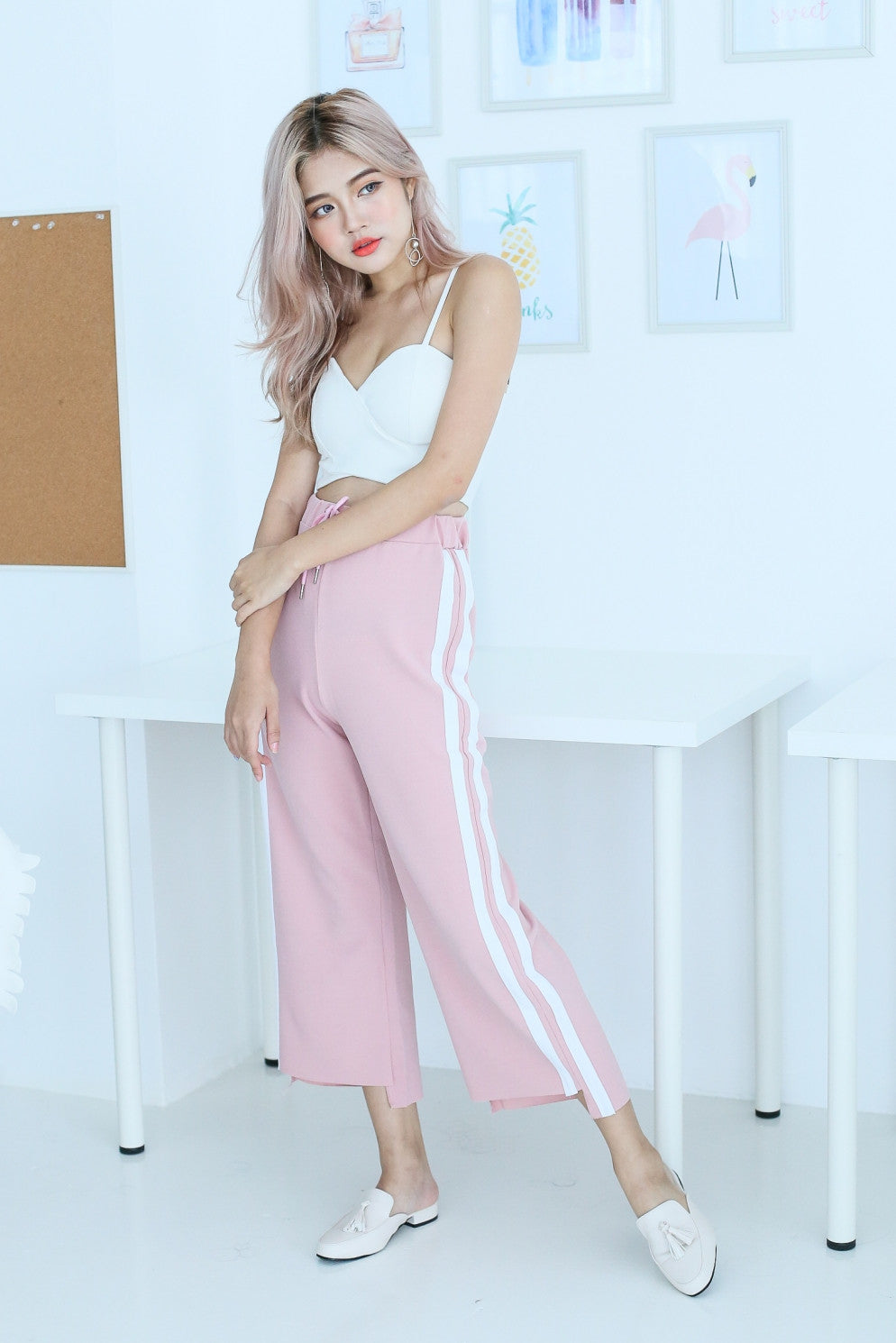 *RESTOCKED* RAW HEM JOGGERS IN PASTEL PINK
