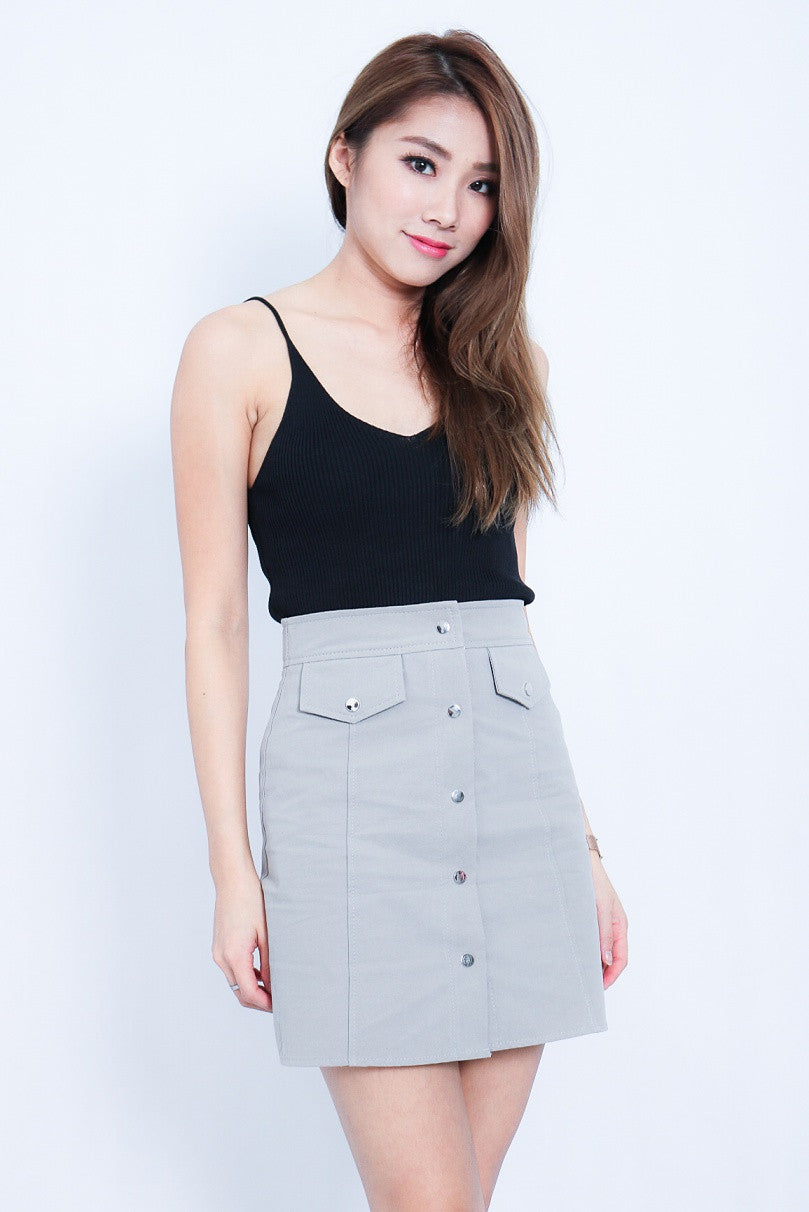 (RESTOCKED) KAIA KNIT TOP IN BLACK - TOPAZETTE