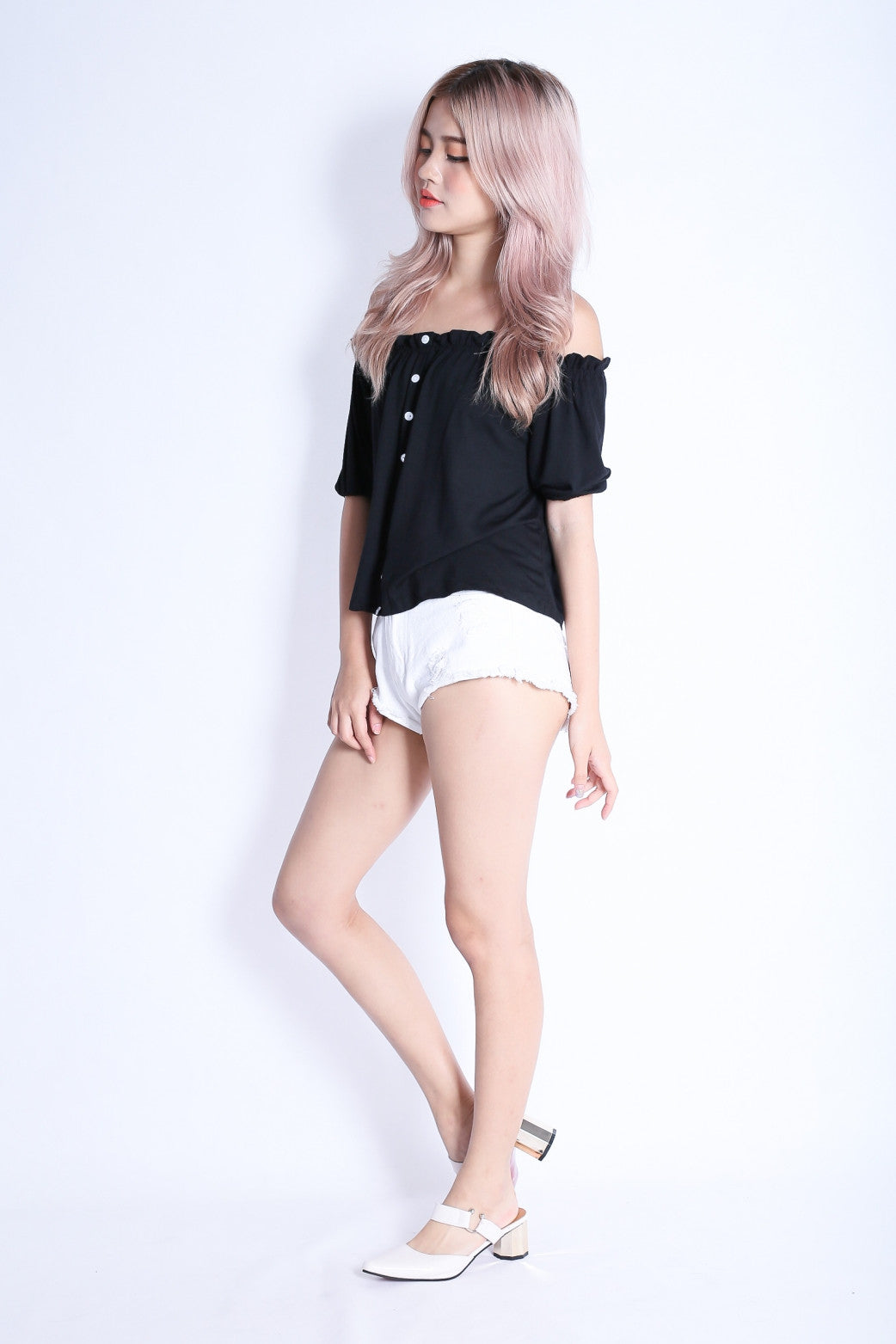 *RESTOCKED* OFF DUTY BUTTON BASIC OFFSIE IN BLACK