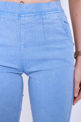 *RESTOCKED* CLASSIC STRETCHY JEGGINGS IN LIGHT BLUE - TOPAZETTE