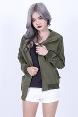 *RESTOCKED* HELLO EVERYDAY PARKA WITH HOOD IN ARMY GREEN