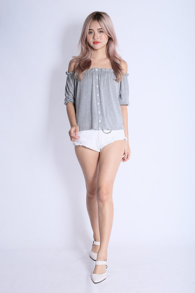 *RESTOCKED* OFF DUTY BUTTON BASIC OFFSIE IN LIGHT GREY
