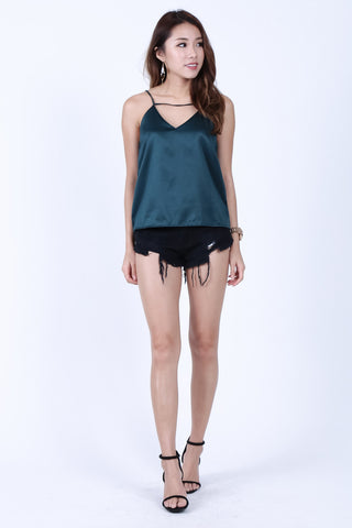 *RESTOCKED* LEXI SPAG TOP IN FOREST