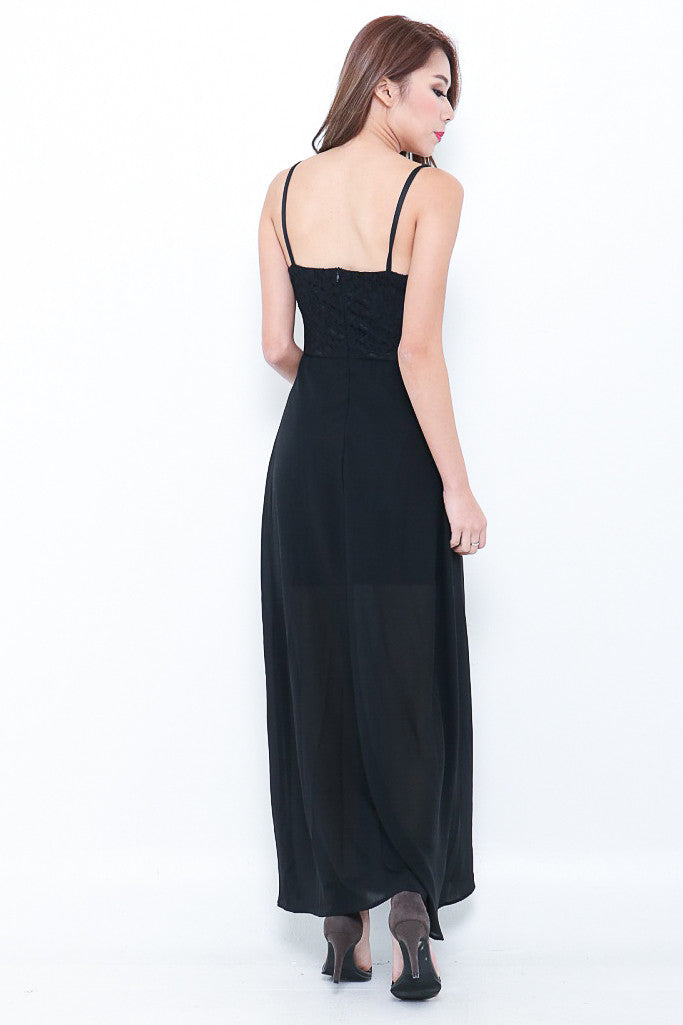(RESTOCKED 3) (PREMIUM) LIZ MAXI IN BLACK - TOPAZETTE