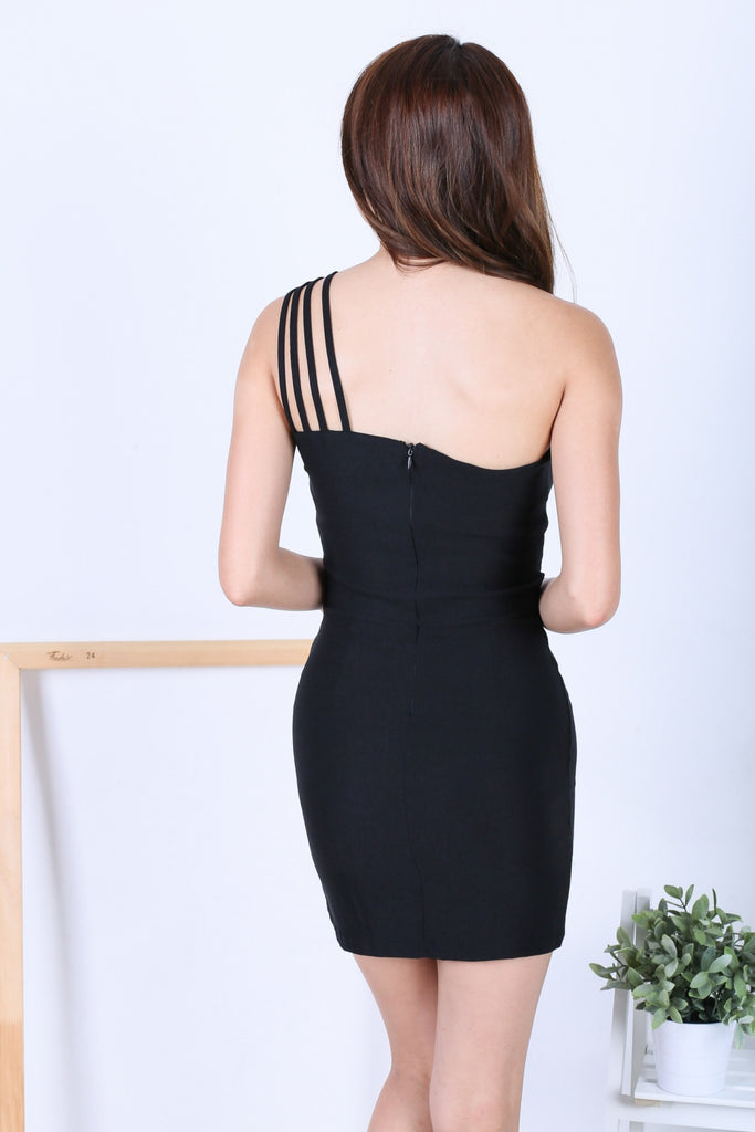 STRAPPY TOGA BODYCON DRESS