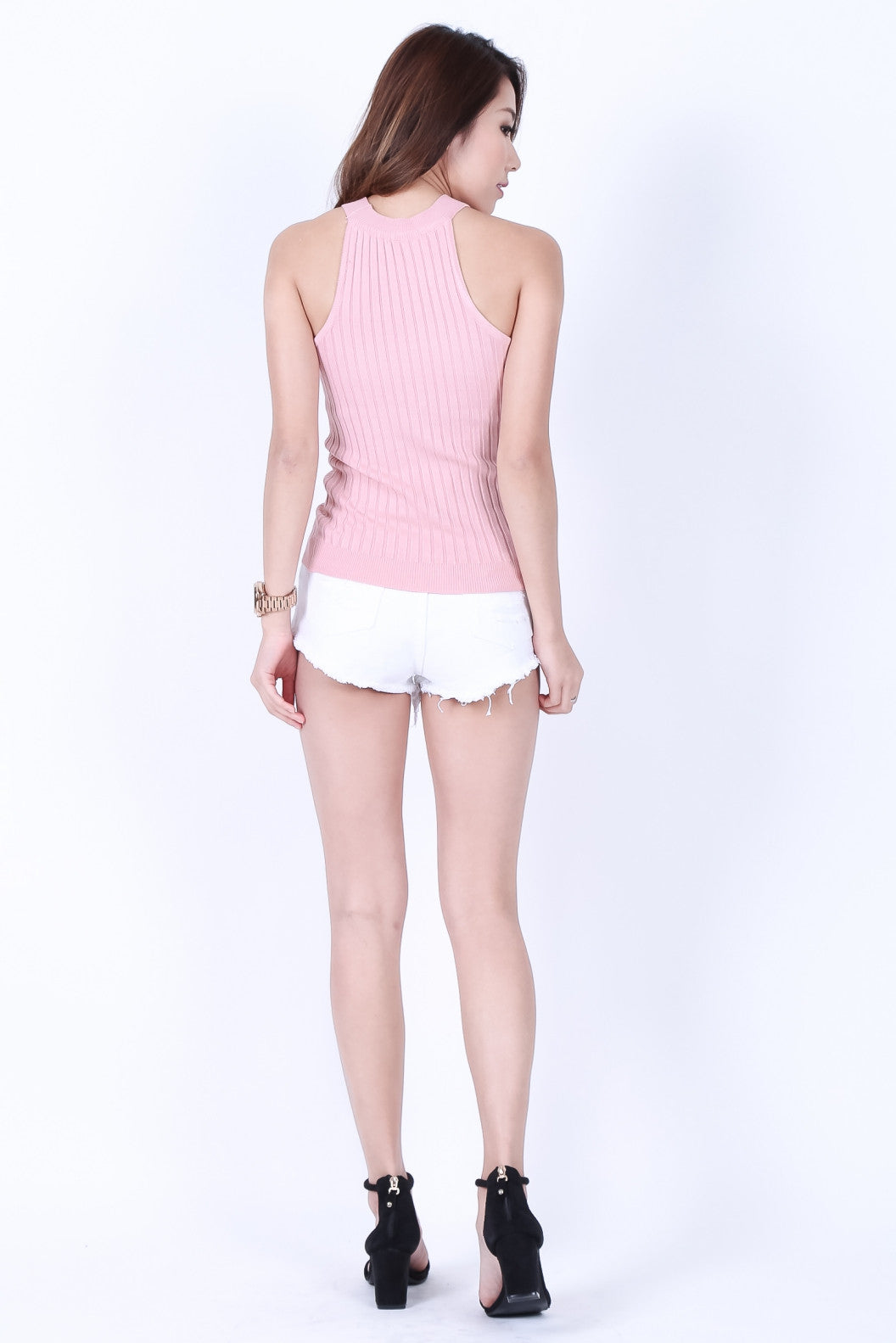 *RESTOCKED* GISELLE KNIT TOP IN BABY PINK