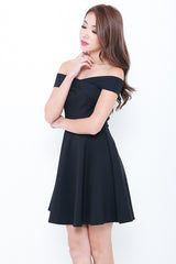*RESTOCKED* (PREMIUM) VOLA SKATER DRESS IN BLACK