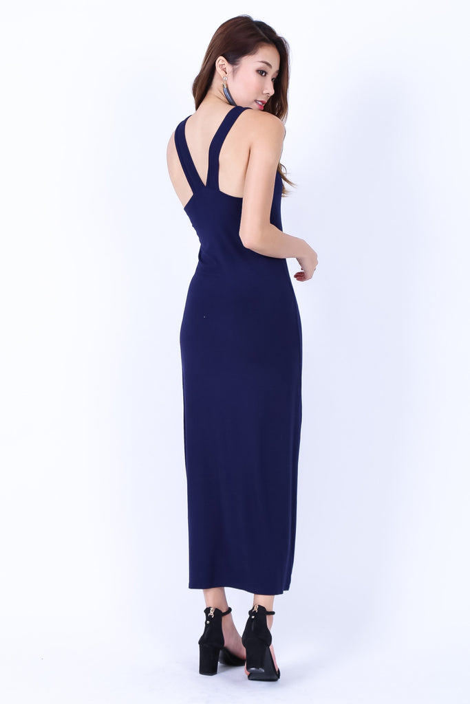 *BACKORDER* BRADSHAW V BACK MAXI IN NAVY - TOPAZETTE