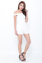 (PREMIUM) LACEY AFFAIR ROMPER IN WHITE - TOPAZETTE
