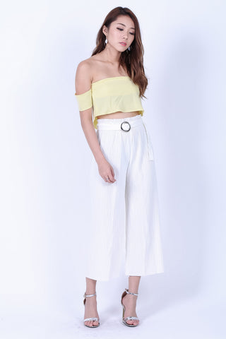 (RESTOCKED) OFF DUTY PLEATED CULOTTES IN WHITE