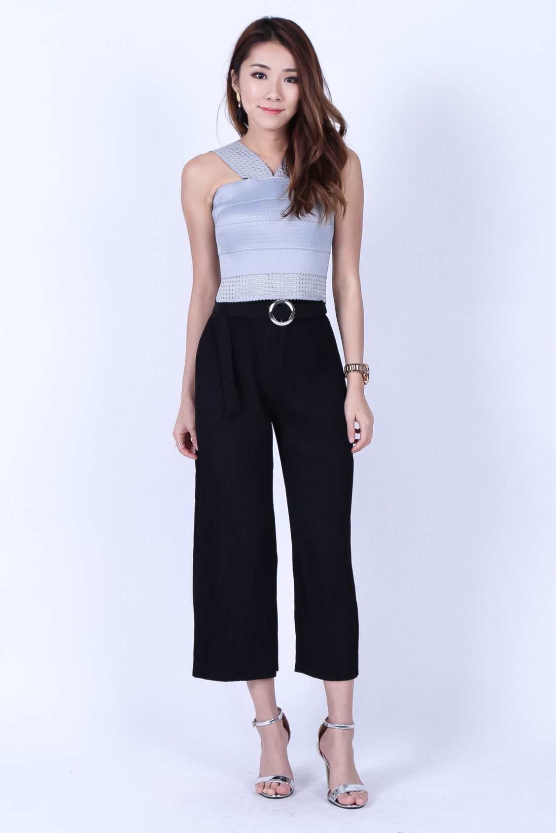 *BACKORDER* OFF DUTY PLEATED CULOTTES IN BLACK - TOPAZETTE