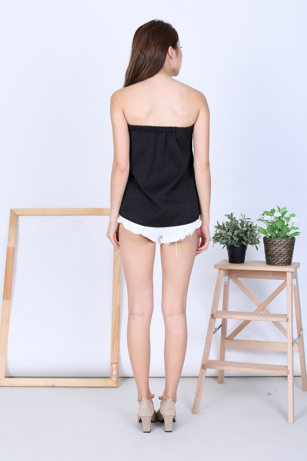 EMM TUBE TOP IN BLACK - TOPAZETTE
