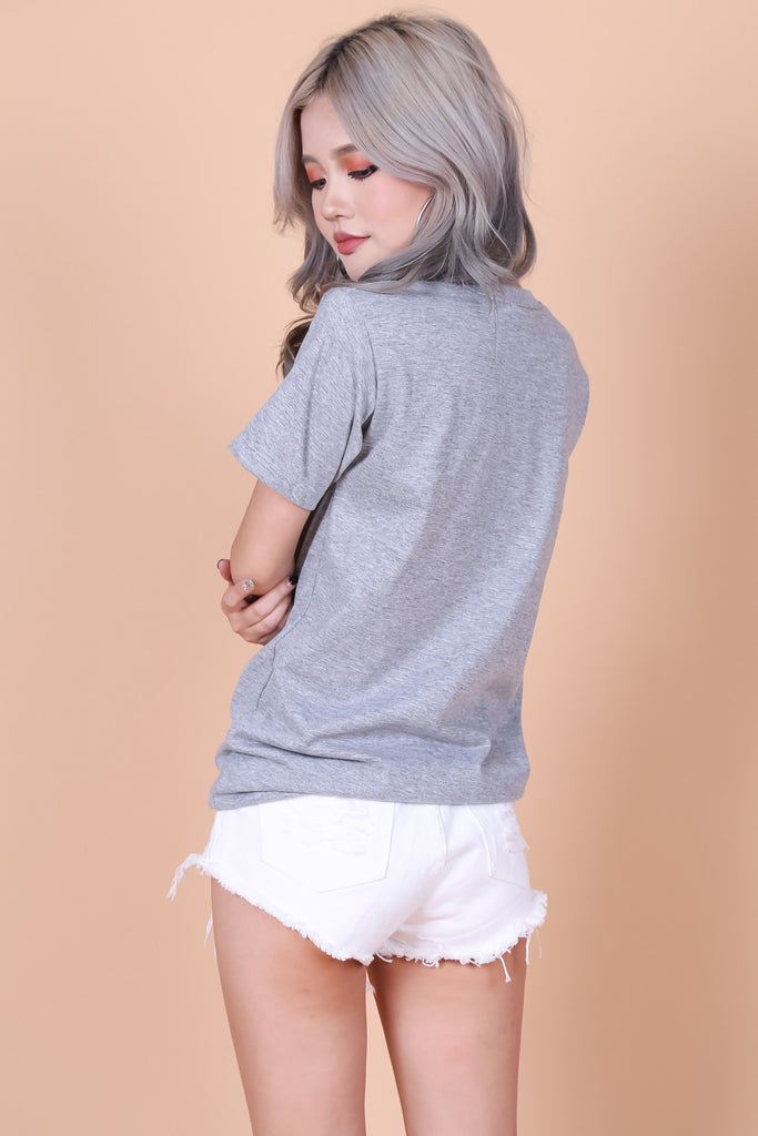 KYL TEE IN GREY - TOPAZETTE