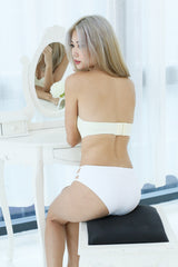 *BACKORDER* LACE STRAPLESS PUSH UP BRA IN CREAM