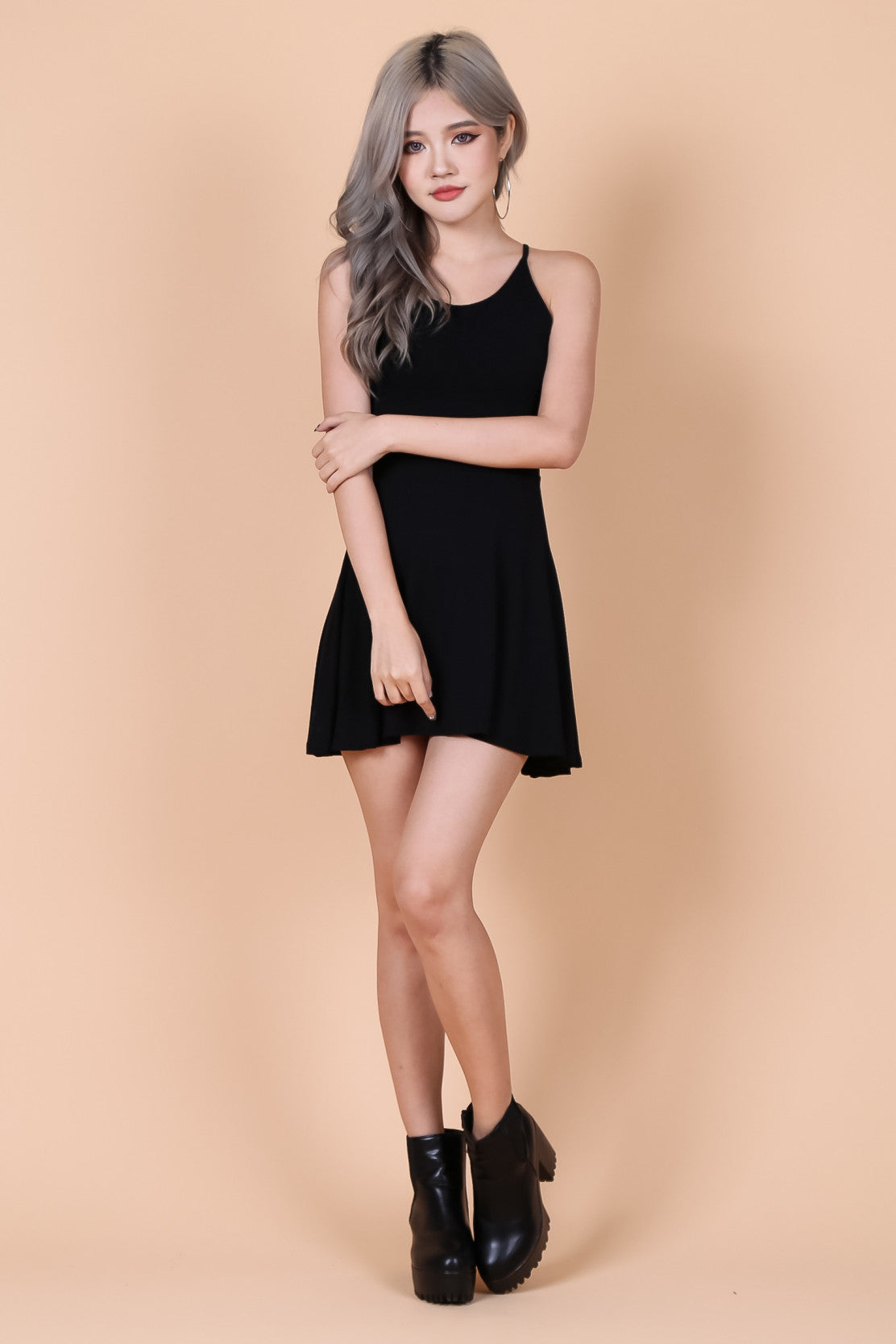 *RESTOCKED* LACED CROSS BACK DRESS IN BLACK - TOPAZETTE