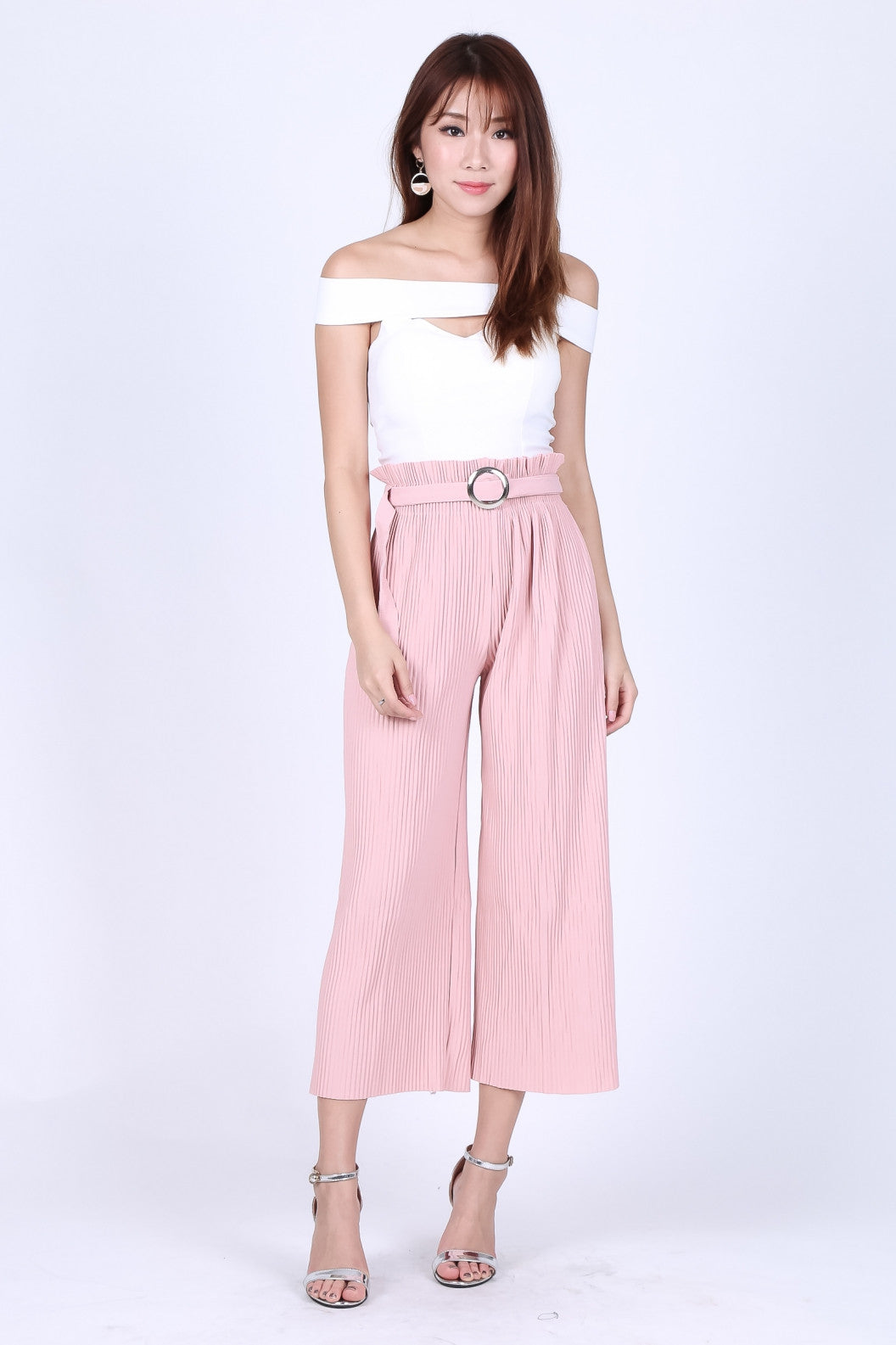 *RESTOCKED* OFF DUTY PLEATED CULOTTES IN BABY PINK - TOPAZETTE