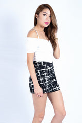 GRAFFITI SKORTS IN BLACK (S-XL)