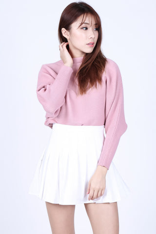 *RESTOCKED* LEIA SLOUCH KNIT TOP IN BABY PINK - TOPAZETTE