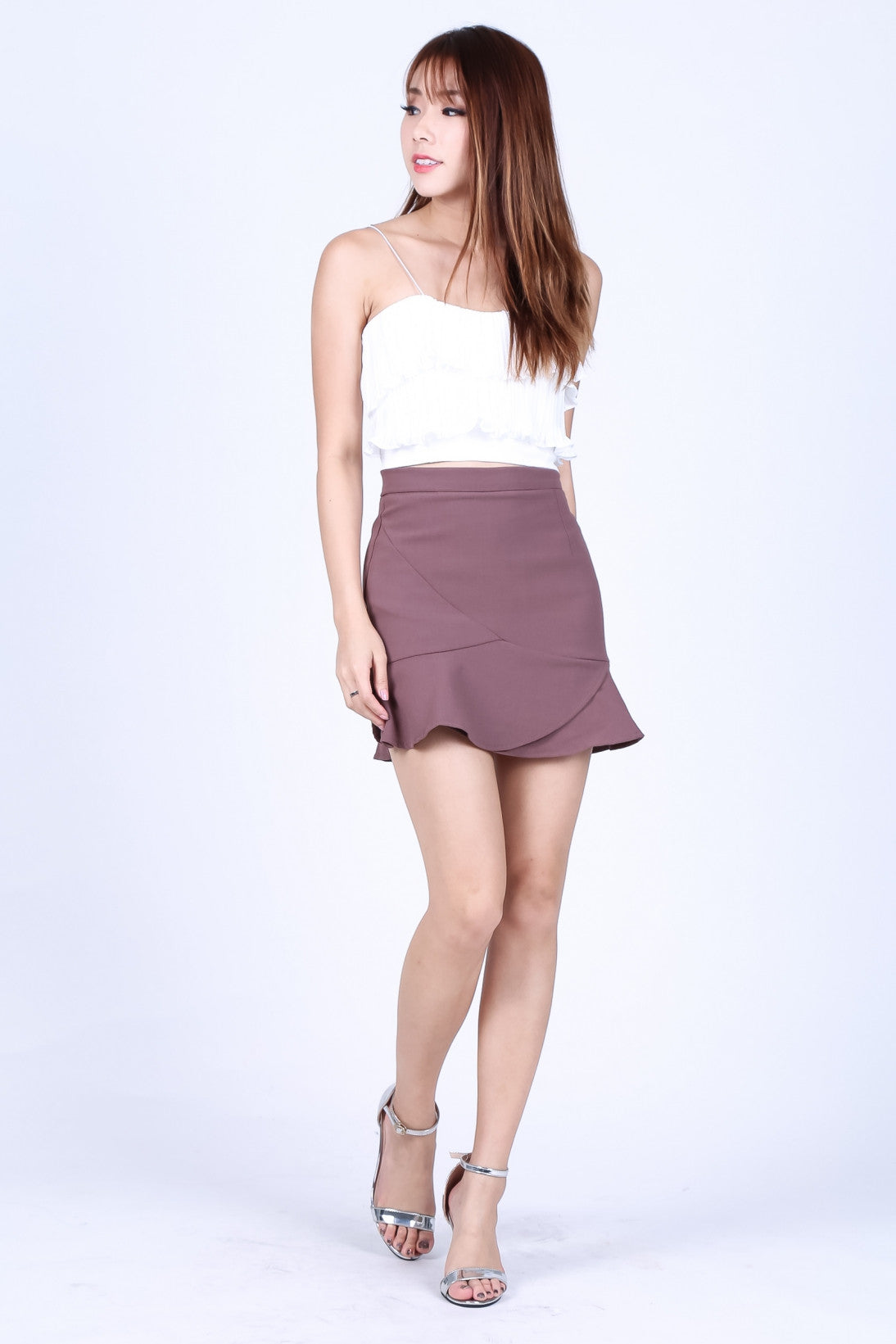 *RESTOCKED* ELYSIA SKORTS IN MULBERRY - TOPAZETTE